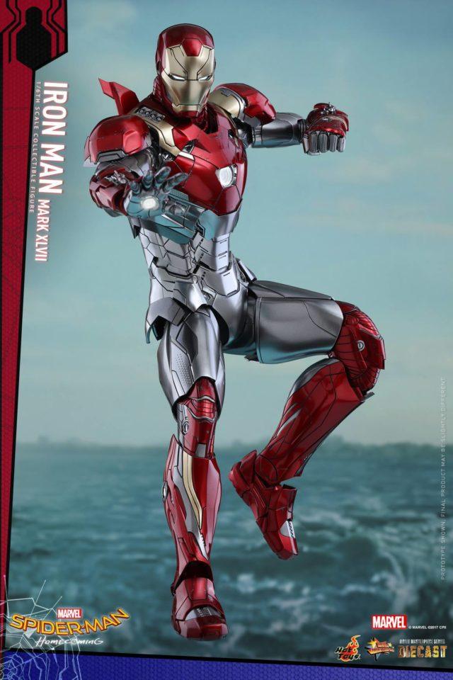 Hot Toys Spider-Man Homecoming Iron Man Mark XLVII Die-Cast MMS Figure