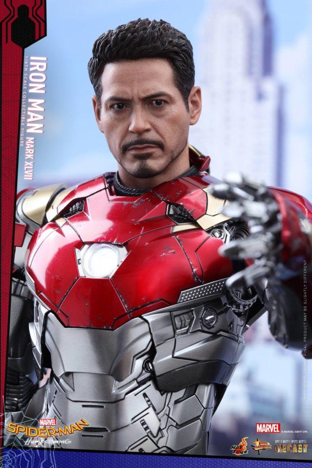 Hot Toys Spider-Man Homecoming Tony Stark Head Sculpt