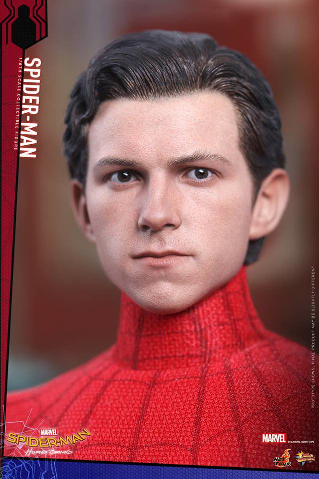 Hot Toys Spider-Man Homecoming Unmasked Peter Parker Tom Holland Head