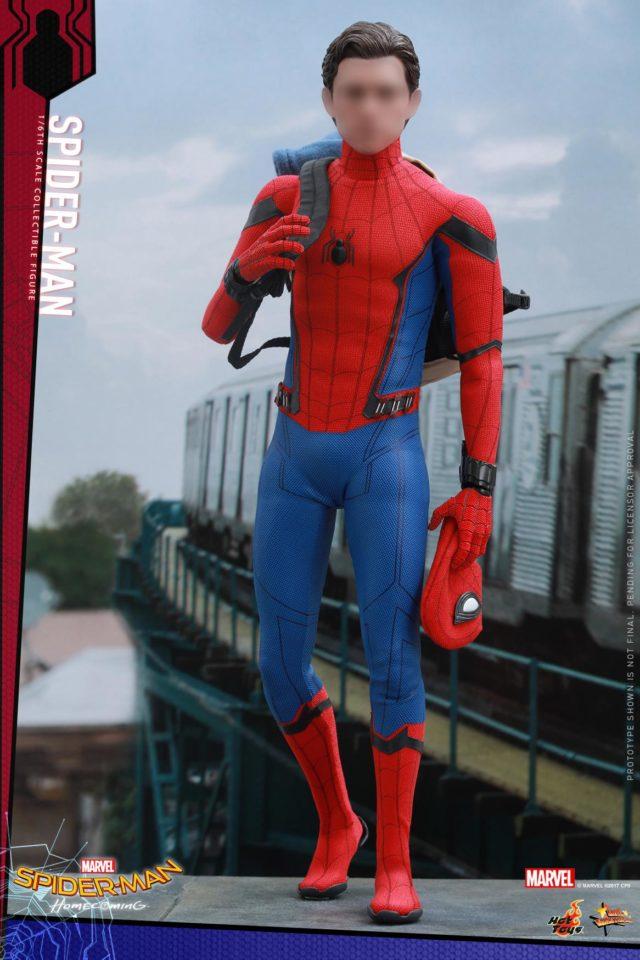 Hot Toys Unmasked Spider-Man Tom Holland Head