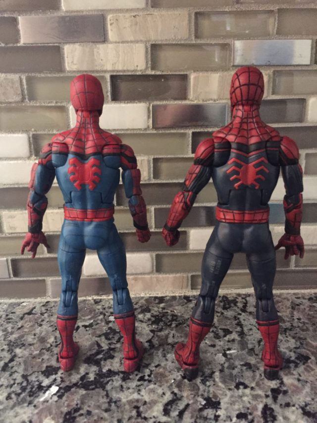 Marvel Legends Civil War Spidey vs. Homecoming Spider-Man Comparison