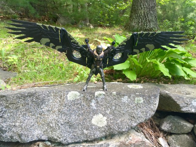 Marvel Legends Vulture Build-A-Figure Wings Fully Extended