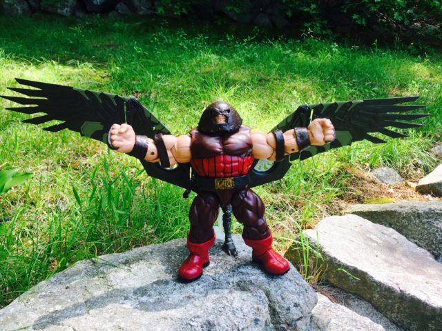 Juggernaut Comparison with Vulture BAF Wings Hasbro Marvel Legends