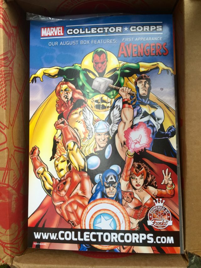 Marvel Collector Corps First Appearance Avengers Box Ad