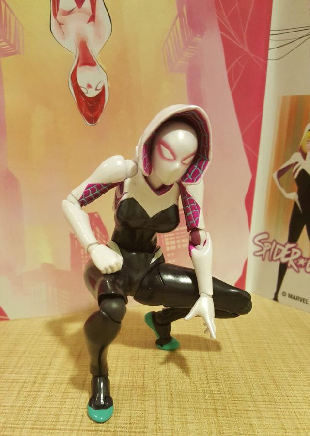 Kaiyodo Spider-Gwen Revoltech Figure Crouching