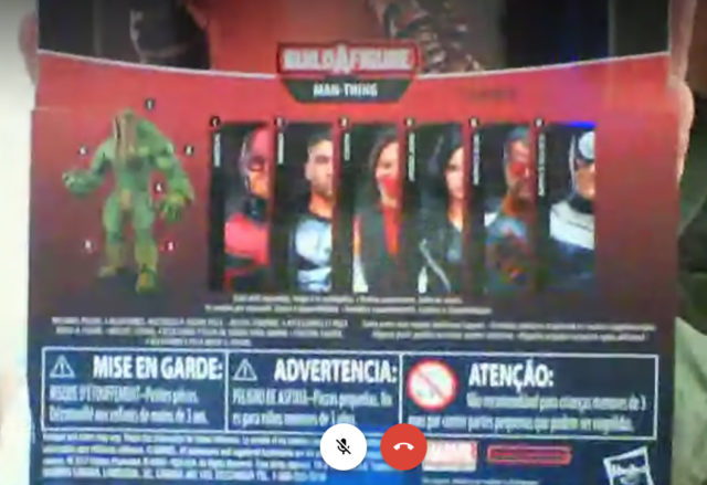 Marvel Knights Legends Packaging Back Man-Thing Parts Breakdown
