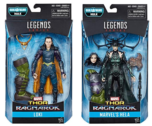 Marvel Legends Hela and Loki Thor Ragnarok Figures