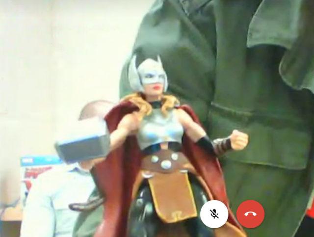 Marvel Legends Jane Foster Thor Screenshot Hasbro Google Hangout