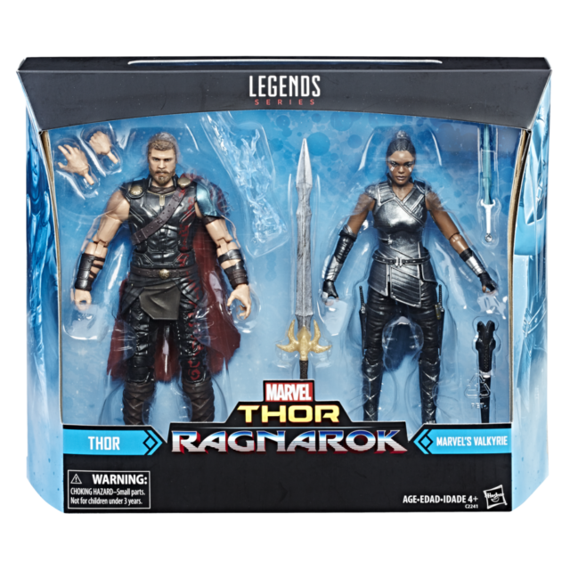 Marvel Legends Thor Ragnarok Valkyrie Two-Pack Packaged