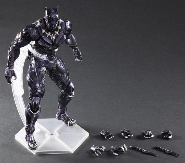 Marvel Play Arts Kai Black Panther Figure and Accessories