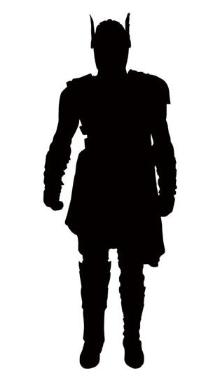 Marvel Select Gladiator Thor Figure Silhouette