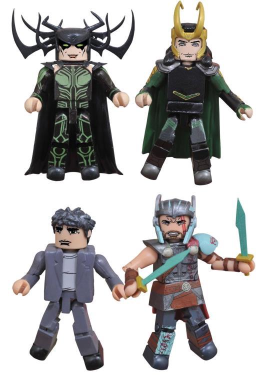 Marvel Select Thor Ragnarok Minimates Set Hela Loki Banner