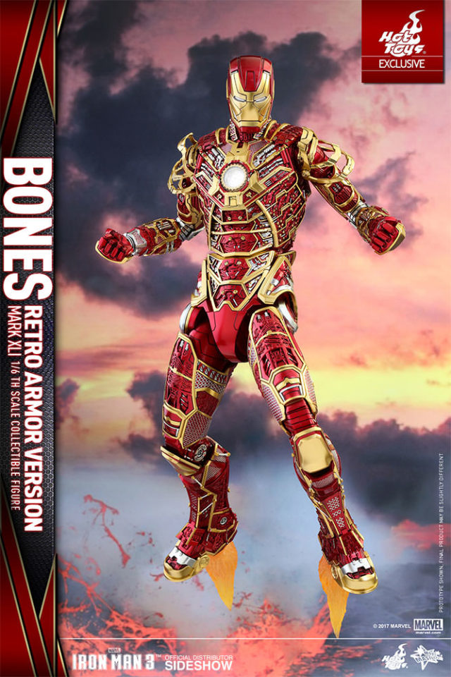 SDCC 2017 Exclusive Hot Toys Bones Iron Man Red Gold Figure