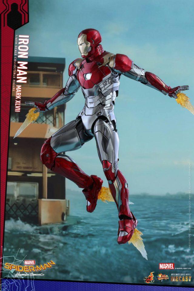 Thrust Effects Piece on Hot Toys Iron Man Mark 47 Figure