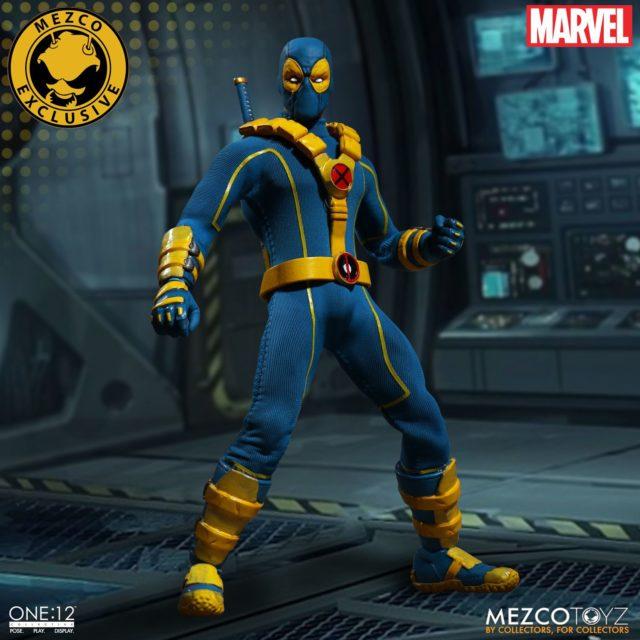 X-Men Blue Deadpool Mezco ONE 12 Collective Variant Figure