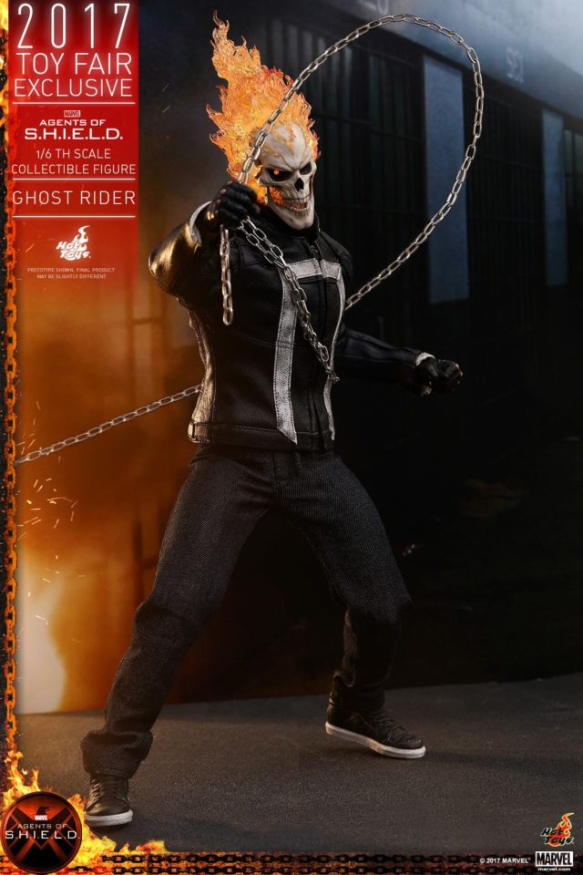 Agents of SHIELD Hot Toys Ghost Rider Figure with Chain
