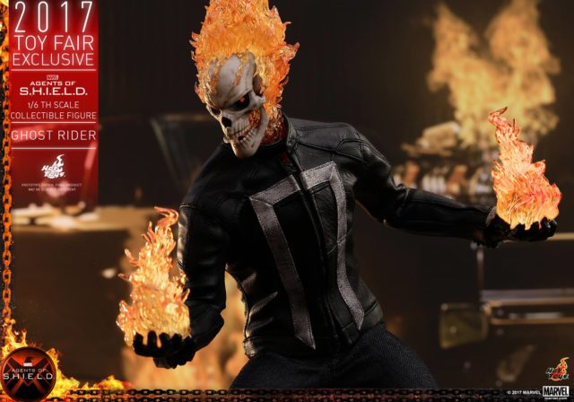 Hot Toys Agents of SHIELD Ghost Rider Holding Flame Effects Pieces