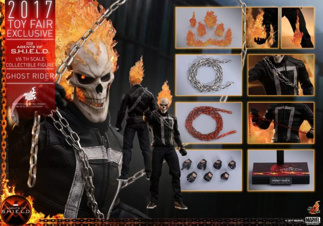Hot Toys Ghost Rider Figure and Accessories Agents of SHIELD