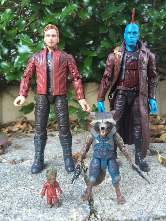 Size Scale Comparison GOTG Legends Rocket Raccoon Star-Lord Yondu