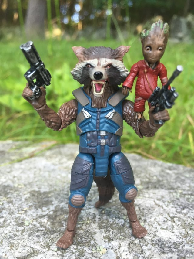 Crazy Eyes on Rocket Raccoon Marvel Legends Figure