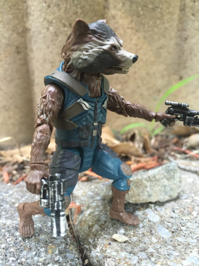 Side View of Hasbro Marvel Legends Rocket Raccoon Figure 2017
