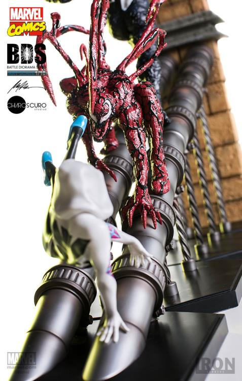 Iron Studios Battle Diorama Series Statues Carnage vs. Spider-Gwen