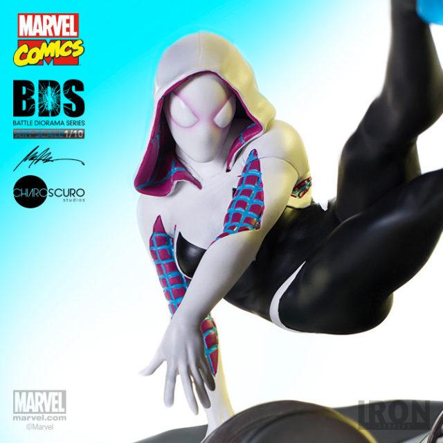 Iron Studios Spider-Gwen Statue Battle Diorama Series BDS