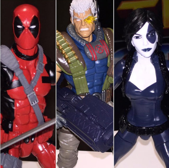 Marvel Legends 2018 Deadpool Domino Cable Figures
