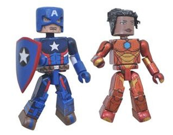 Marvel Minimates Ironheart and Secret Empire Captain America Figures