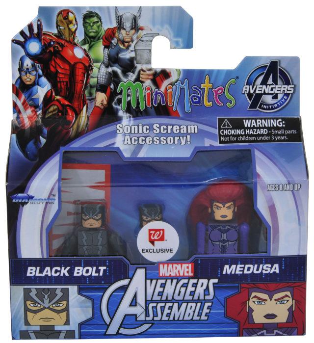 Marvel Minimates Medusa and Black Bolt Two-Pack Packaged