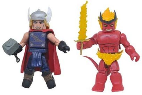 Marvel Minimates Surtur and Thor Figures Series 74
