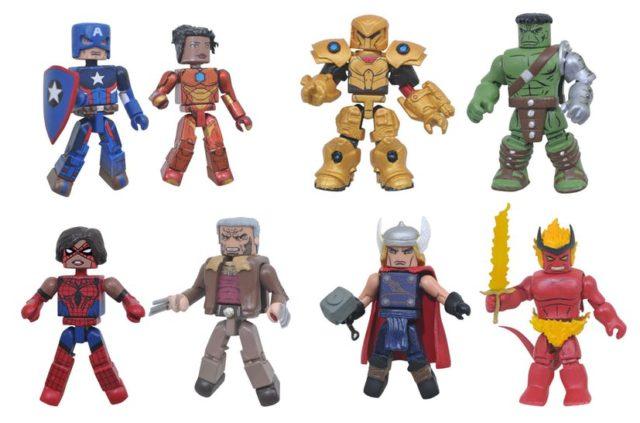 Marvel Minimates Wave 74 Figures Ironheart King Hulk Surtur
