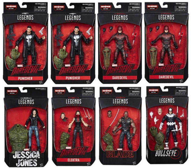 Marvel legends Netflix Series Case Ratios