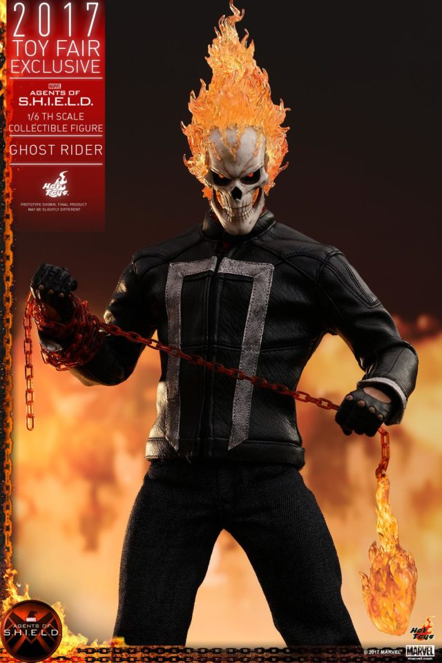 SHIELD Hot Toys Ghost Rider MMS Figure with Flaming Chain