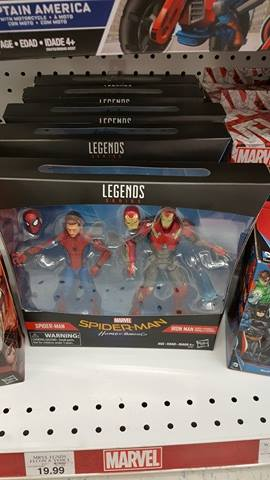 Spider-Man Homecoming Marvel Legends Iron Man Set at Toys R Us