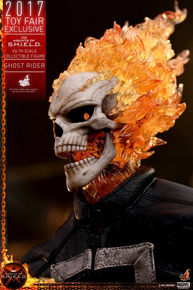 Toy Fair Exclusive Hot Toys Ghost Rider Agents of SHIELD Head Close-Up
