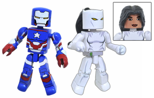 Walgreens Marvel Minimates Iron Patriot White Tiger Figures