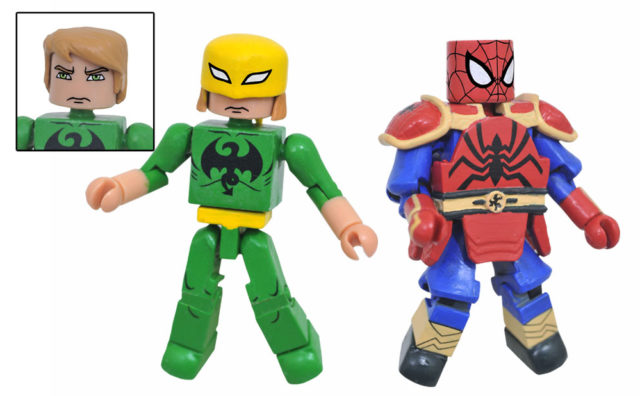 Walgreens Minimates Iron Fist and K'un-Lun Armor Spider-Man