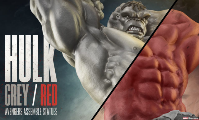 Avengers Assemble Grey Hulk Red Hulk Statues Sideshow Collectibles