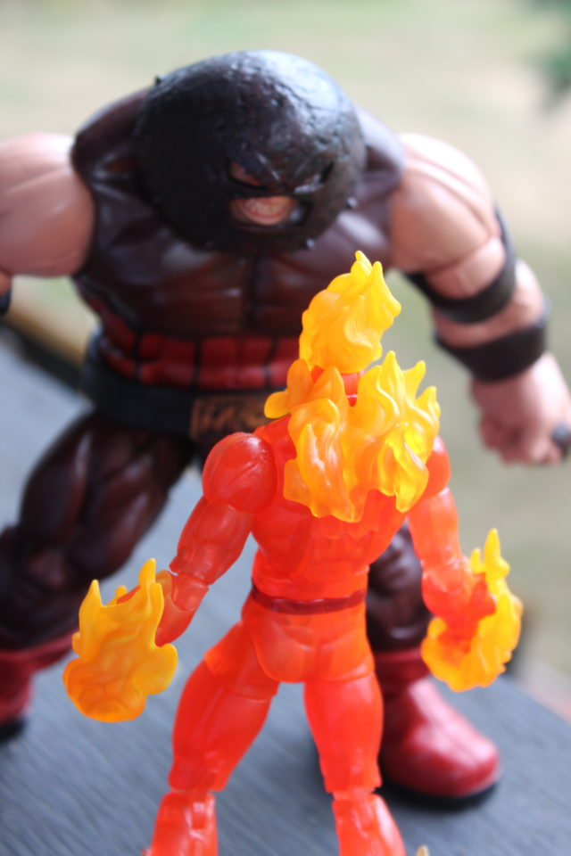 Back of 2017 Marvel Legends Human Torch Six Inch Figure
