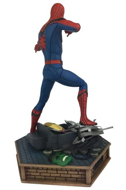 Back of Diamond Select Spider-Man Homecoming Statue
