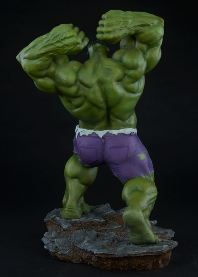 Back of Sideshow Exclusive Avengers Assemble Hulk Fifth Scale Statue