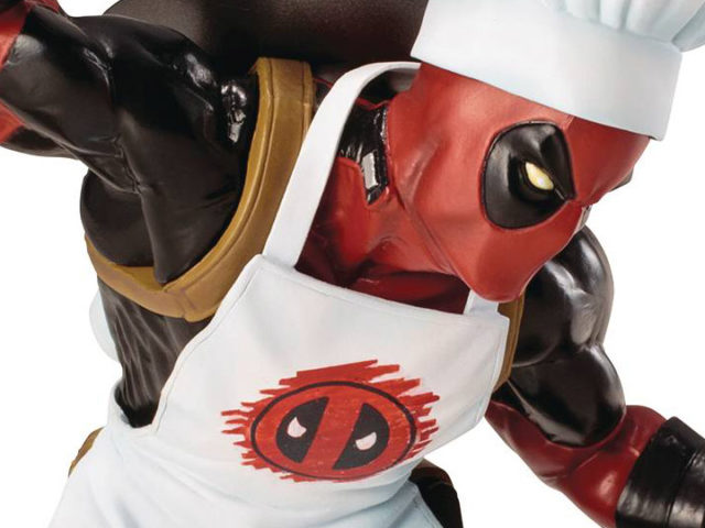 Close-Up of Kotobukiya Chef Deadpool Statue ARTFX+