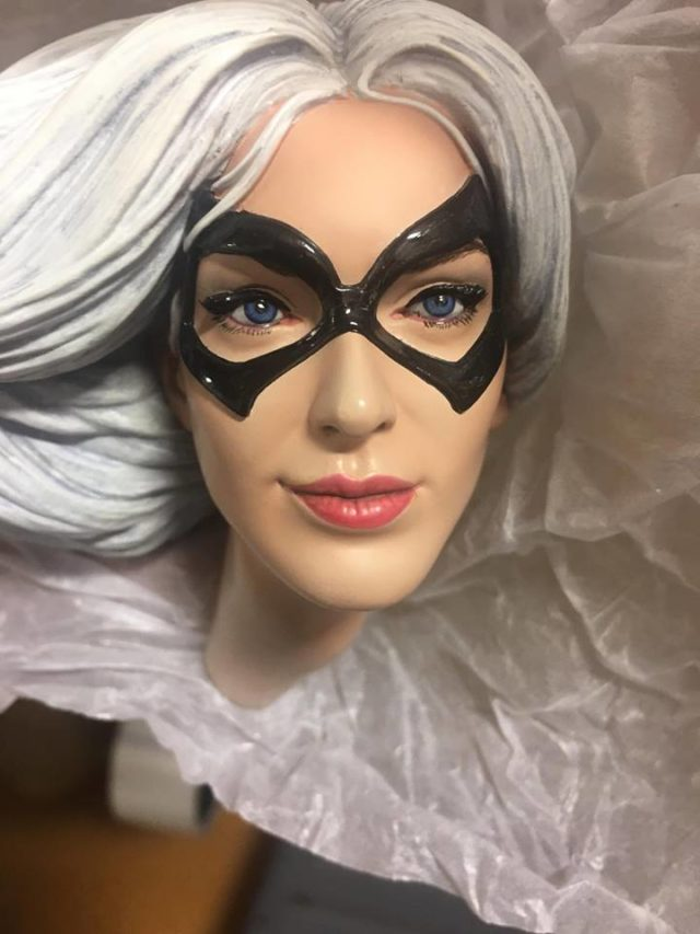 Close-Up of Sideshow Black Cat PF Statue Head