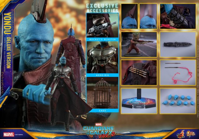 Hot Toys Deluxe Yondu Figure and Accessories
