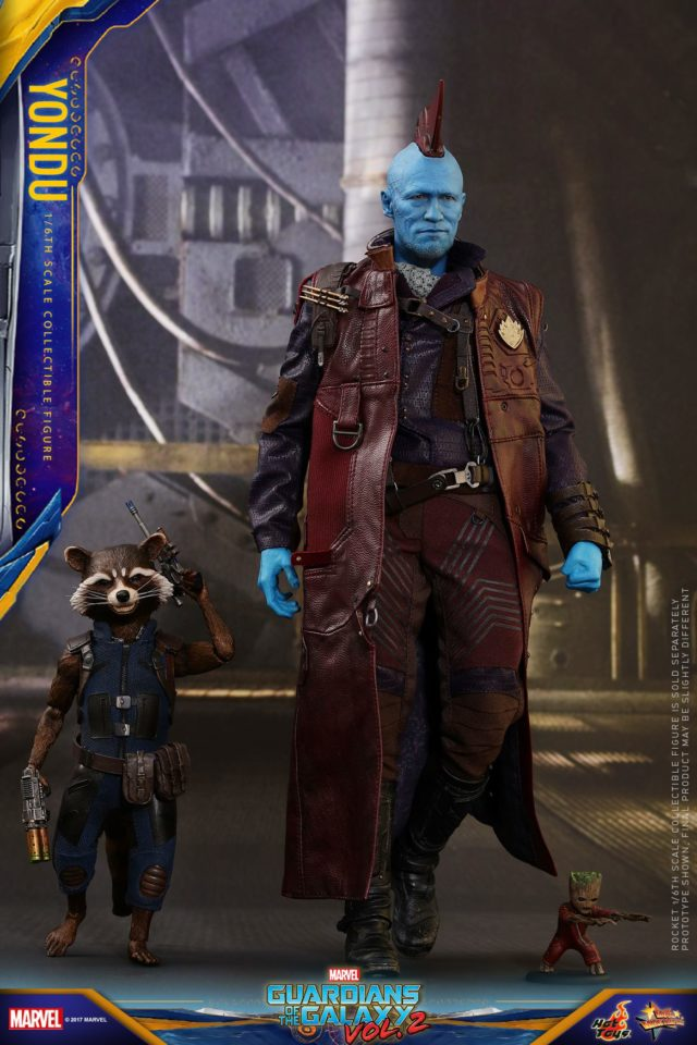 Hot Toys GOTG 2 Rocket Raccoon and Yondu Figures Size Scale Comparison