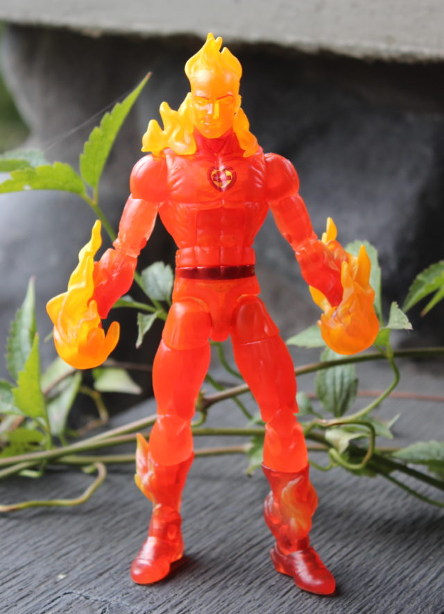 Human Torch Marvel Legends Figure with Sunfire Effects Pieces