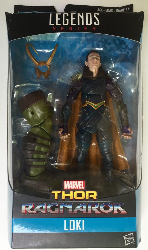 Loki Marvel Legends Ragnarok Series Figure Packaged