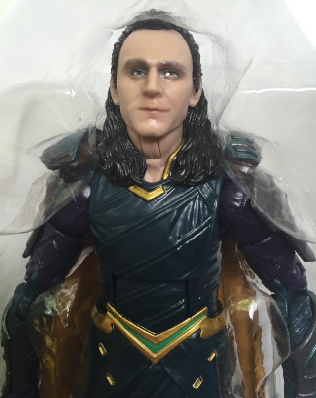 Close-Up of Tom Hiddleston Marvel Legends Loki Head