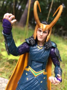 Marvel Legends 2017 Loki Figure Wearing Crown Helmet
